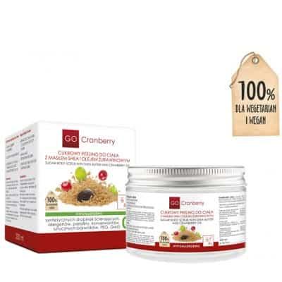 Cukrowy Peeling Do Ciała z Masłem Shea i Olejem Żurawinowym 200 ml Gocranberry