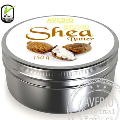 Masło Shea (Karite) – ujędrnienie i ochrona suchej skóry 150 g Avebio