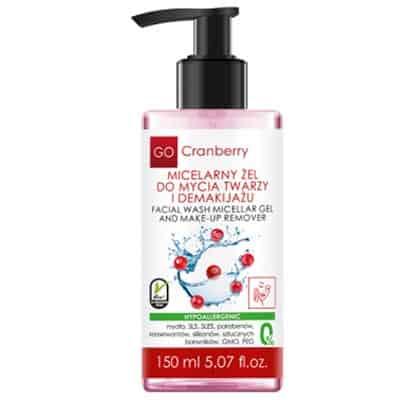 Micelarny Żel Do Mycia Twarzy i Demakijażu 150ml Gocranberry