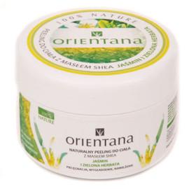 Naturalny Peeling do ciała z masłem shea JAŚMIN I ZIELONA HERBATA 200g Orientana data ważności: 31.07.2017