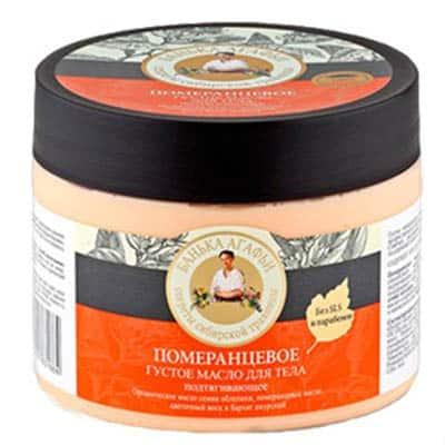 Masło do ciała odżywczo – ochronne – pomarańcza, wosk kwiatowy, rokitnik, korkowiec amurski 300ml Bania Agafii