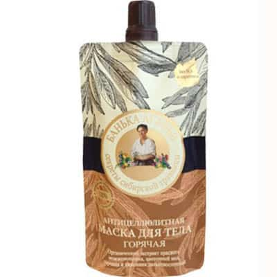 Maska do ciała – antycellulitowa – olej z igieł świerku syberyjskiego, miód, gorczyca 100ml Bania Agafii