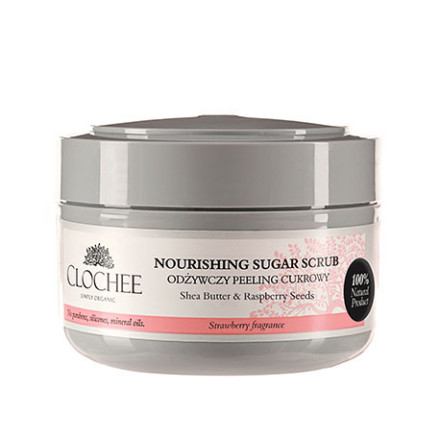 Odżywczy peeling cukrowy – truskawka 250ml Clochee