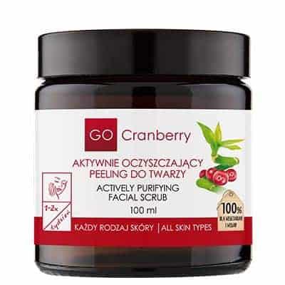 Aktywnie oczyszczający peeling do twarzy 100ml GoCranberry
