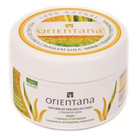Naturalny peeling do ciała z masłem shea IMBIR I TRAWA CYTRYNOWA 200g Orientana