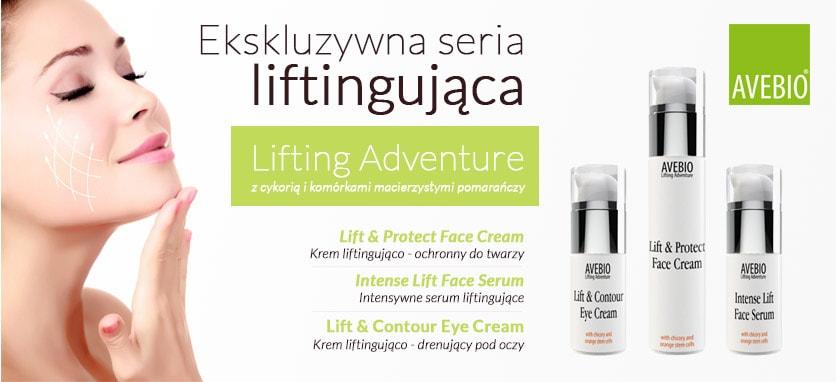 Liftingujące kosmetyki naturalne Avebio