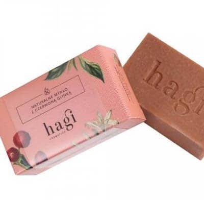 Naturalne mydło z czerwoną glinką 100g HAGI