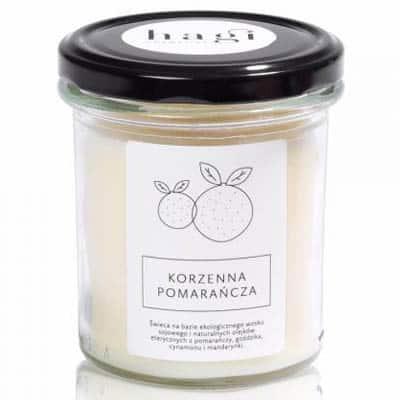 Świeca sojowa – Korzenna Pomarańcza 230g HAGI