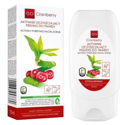 Aktywnie oczyszczający peeling do twarzy 75ml GoCranberry