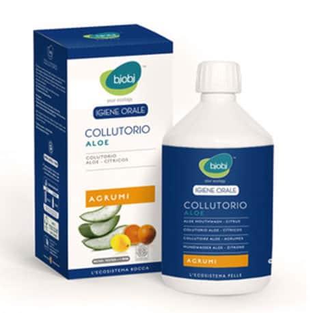 Płyn do płukania ust z wyciągiem z aloesu i olejkami z owoców cytrusowych 500 ml Bjobj