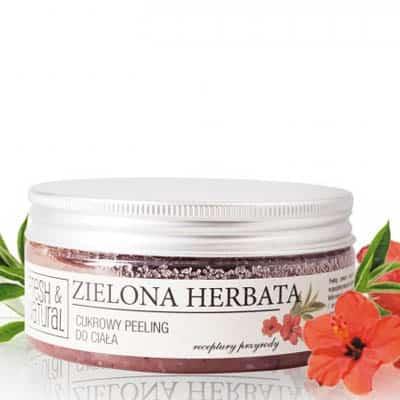 Cukrowy peeling do ciała ZIELONA HERBATA 250g Fresh&Natural