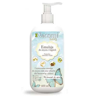 Emulsja do mycia i kąpieli dla dzieci 400ml Nacomi