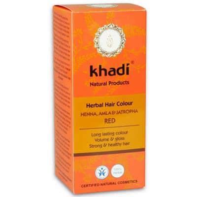 Naturalna Ziołowa Henna do Włosów z Almą i Jatrophą (ciemny mahoń) 100g Khadi