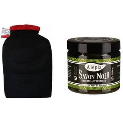 Zestaw: Rękawica Kessa + Savon Noir marki Alepia