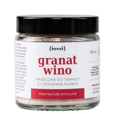 Maseczka do twarzy granat i wino z czerwoną glinką 120ml IOSSI