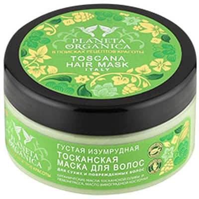 Maska Toskańska do włosów suchych i zniszczonych – oliwa z oliwek, trawa cytrynowa, olej z pestek winogron 300ml Planeta Organica