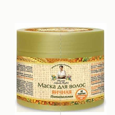 Maska do włosów jajeczna odżywcza (bez PEG i parabenów) 300ml Receptury Babuszki Agafii