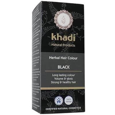 Naturalna Ziołowa Henna do Włosów Black (Czarna) 100g Khadi