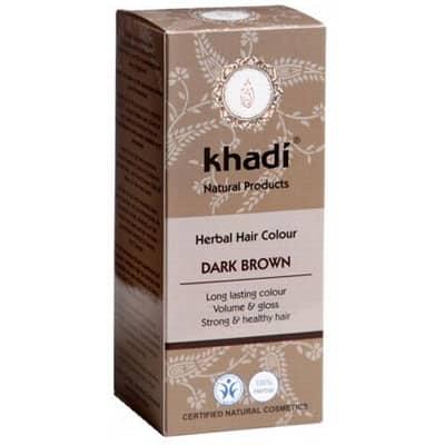 Naturalna Ziołowa Henna do Włosów Dark Brown (Ciemny Brąz) 100g Khadi