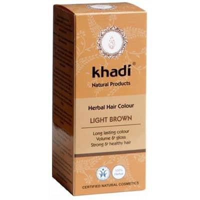 Naturalna Ziołowa Henna do Włosów Light Brown (Jasny Brąz) 100g Khadi