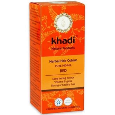 Naturalna Ziołowa Henna do Włosów Pure Henna Red (Ruda) 100g Khadi