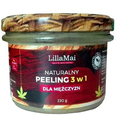 Naturalny peeling 3w1 dla mężczyzn 230g LillaMai