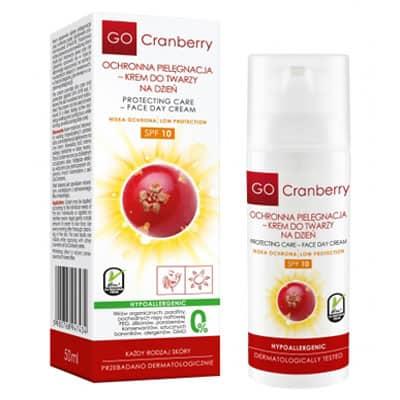 Ochronna Pielęgnacja – Krem do twarzy na dzień SPF 10 50ml GoCranberry