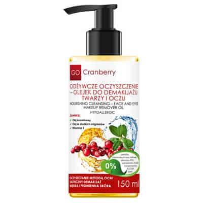 Odżywcze Oczyszczenie Olejek do Demakijażu Twarzy i Oczu 150 ml GoCranberry