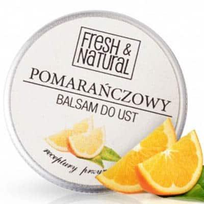 POMARAŃCZOWY balsam do ust 15ml Fresh&Natural