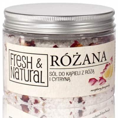 Różana sól do kąpieli z różą i cytryną 500g Fresh&Natural