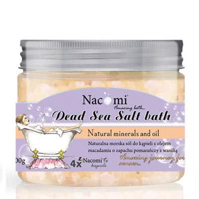 Sól z Morza Martwego pomarańcza-wanilia 450g Nacomi