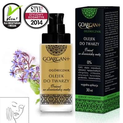 Wygładzająco-ujędrniający olejek do twarzy GoArgan+ Ogórecznik 30ml