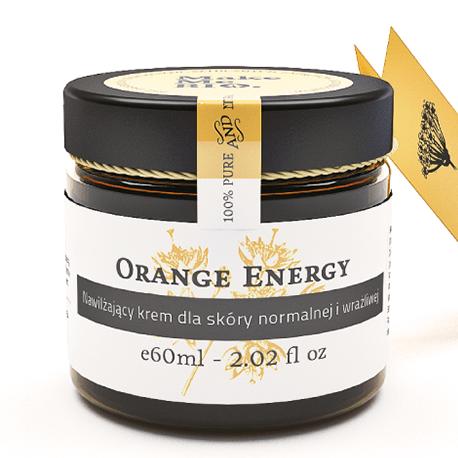 Orange energy-nawilżający krem dla skóry normalnej i wrażliwej 60 ml Make Me Bio