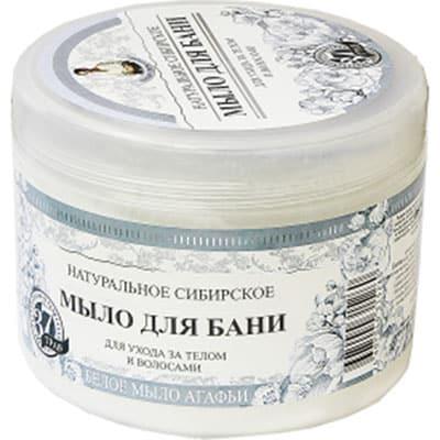 Naturalne Syberyjskie Białe Mydło Agafii 500ml Federacja Rosyjska