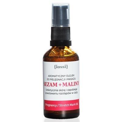 Aromatyczny olejek przeciw rozstępom w ciąży. Sezam i maliny 50ml IOSSI