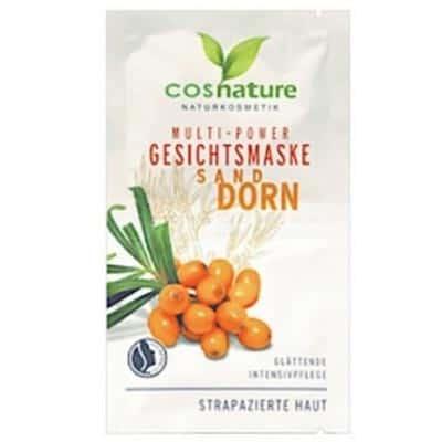 Naturalna multi-odżywcza maska do twarzy z rokitnikiem 2x8ml Cosnature