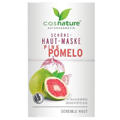 Naturalna upiększająca maska do twarzy z różowym pomelo 2x8ml Cosnature