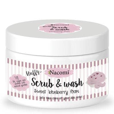 Pianka peelingująco-myjąca słodka borówkowa 180ml Nacomi