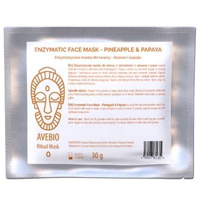 Enzymatyczna maska do twarzy – Ananas i papaja 30g Avebio
