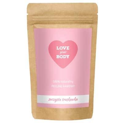 Love Your Body Peeling Kawowy – Soczysta Truskawka 100g