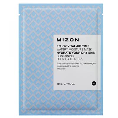 Maska z zieloną herbatą nawilżająca - Enjoy Vital-Up Time Watery Moisture Mask 23ml Mizon