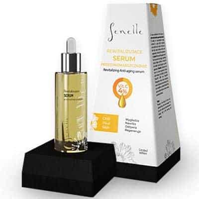 Rewitalizujące serum przeciwzmarszczkowe witamina C+Stoechiol – roślinny botox 30ml Senelle Summer