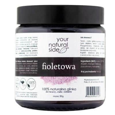 Glinka Fioletowa kaolin 50g Your Natural Side