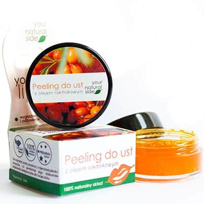 Peeling do ust z olejem rokitnikowym 10ml Your Natural Side