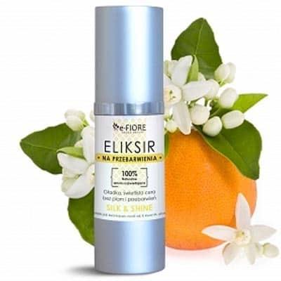 Eliksir serum na bazie hydrolatu z Neroli-przebarwienia, piegi silk & shine rozświetlające 30ml e-FIORE