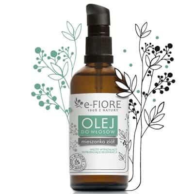 Mix ziół i oleje naturalna mieszanka do włosów wypadających i zniszczonych 100ml e-FIORE
