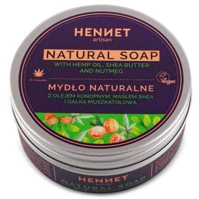 Mydło naturalne z olejem konopnym 110g HENNET
