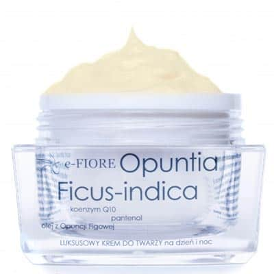 Naturalny krem odmładzający do twarzy z opuncją figową, koenzymem Q10 i masłem shea 60ml e-FIORE