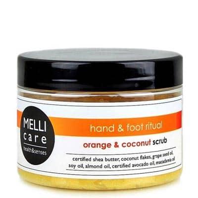 Oczyszczająco-relaksujący scrub solno-cukrowy do dłoni i stóp 330g Melli Care