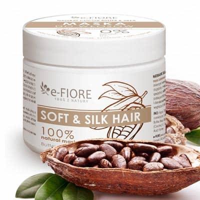 COCOA BUTTER & UREA Maska do włosów zmiękczająca keratyna, mocznik, masło kakaowe 300ml e-fiore